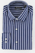 Kenneth Cole New York Mens Blueberry Button Up Dress Shirt Top Ret $69.50 New