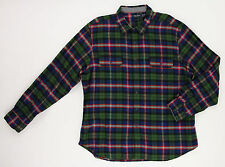 Nautica Men's Green Red Blue Flannel Plaid Button Up Shirt Top Ret $79.50 New