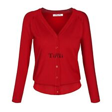 Women Casual Long Sleeve V Neck Button Knitting Sweater cardigan Coat TXCL