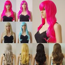 18 Colors Wave Synthetic Hair Costume Full Wig Purple Red Orange Black Full Wigs
