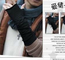 Men First-rate Korean Style Cotton Blends Half-Length Gloves Warm Long Mitten wb