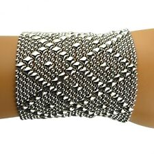 Sergio Gutierrez Liquid Metal Bracelet B26 WIDE 2 3/4 SG Mesh Cuff 2 sizes