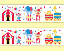 Circus Nursery Border Animal Decal Wallpaper Border Wall Art Safari Jungle Decor