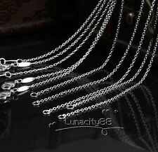 """Sales Top Quality Rolo CHAINS 20PCS Lots 1mm Necklace 16"""",18"""",20"""",22"""",24inch HOT"""