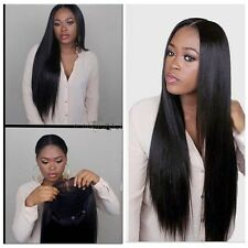 100% Human Hair Malaysian Straight Lace /Full Lace Front Wigs With Glueless Cap