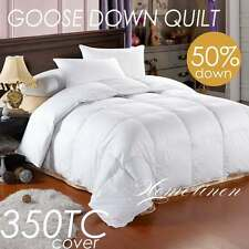 50% Goose Down & Feather Duvet Quilt Doona King/Queen/Double/Single Size Bed