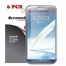 6 Pack Samsung Galaxy Note 2 II Screen Protectors LCD Bubble Free Film Cover