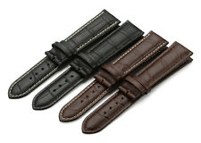 12-24mm Genuine Calf Crocodile Grain Leather Strap Watch Band For Tissot