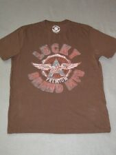 WINGED A HIGH PREMIUM USA BROWN LUCKY BRAND JEANS Shirt TEE TSHIRT T NEW ANGELS