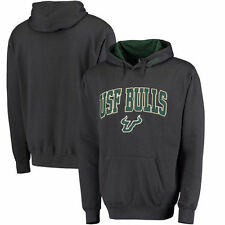 South Florida Bulls Arch & Logo Pullover Hoodie - Charcoal - College