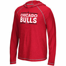 Chicago Bulls adidas Tip-Off Dassler Hooded Long Sleeve T-Shirt - Red - NBA