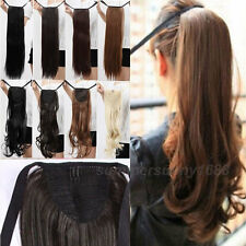 Long Lady Clip In Ponytail Pony Tail Hair Extension Wrap/Claw On Hair Piece ss38