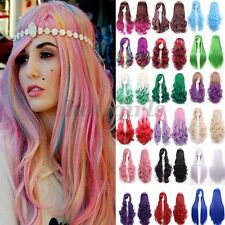 Straight Wavy Curly Long Hair Full Wigs Women Ladies Ombre Cosplay Party Wig #C1
