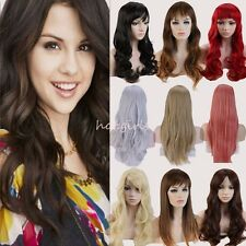 Women's Sexy Long Wigs Fancy Dress Curly Straight Play Costume Full Wig Party a3