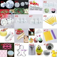 16 Sets Cake Fondant Sugarcraft Decorating Mould Tool Smother Plunger Cutter CN