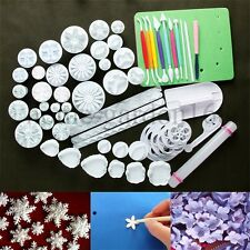 Sugar craft Paste Flower Fondant Cake Decorating Cookie Cutters Mould Tools Set