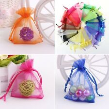 50/60/100pcs Wedding Favour Sheer Gift Bags Jewellery Packing Organza Pouch Gift