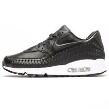 NIKE AIR MAX 90 WOVEN BLACK MENS LEATHER US SIZE 6 - 14 / NEW 2016