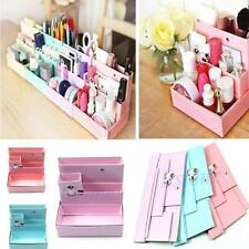DIY Makeup Cosmetic Stationery Paper Board Storage Box Desk Decor Organizer uf