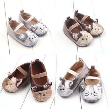 0-18 Months Size Baby Girls Crib Toddler Rubber Cute Cat Infant Soft Sole Shoes