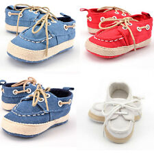 Newborn Baby Boys Girls Premium Soft Sole Infant Prewalker Toddler Sneaker Shoes