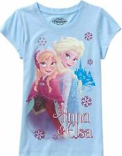 Disney Princess Frozen Anna & Elsa Girls Tee 4-5 6-6x 7-8 10-12 t-shirt New Top