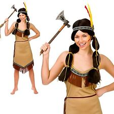 Native Indian Ladies Outfit Pocahontas Fancy Dress Costume Size 6/24