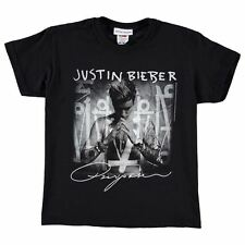 Official Kids Justin Bieber T Shirt Juniors Cotton Short Sleeve Crew Neck Tee
