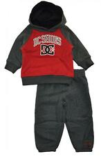 DC Shoes Infant Boys Red & Gray Logo Hoodie 2pc Sweat Suit Set Size 12M 18M 24M