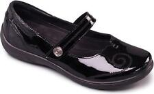 Padders LYRIC Ladies Extra/Super Wide EE/EEE Touch Fasten Mary Jane Shoes Black