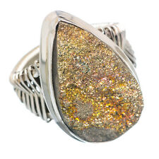 Rainbow Pyrite Druzy 925 Sterling Silver Ring Size 7 Ana Co Jewelry R743703F