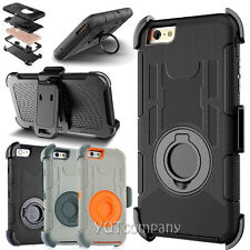 For Apple iPhone 7 Plus Shockproof Rugged Hybrid Rubber Hard Cover Case + Clip