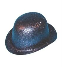 Glitter Bowler Hat for Photo Booth Party Fancy Dress Accessory