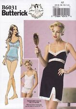 Butterick Sewing Pattern Misses' Camsole Slip & panties Size 6 - 22 B6031
