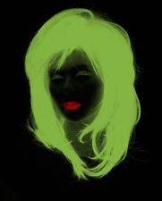 Halloween Costume Party Wig GLOW IN THE DARK TINA new