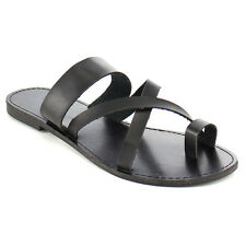 Fashion Focus EB84 Women's Toe Slip On Strappy Criss Cross Casual Flat Sandals