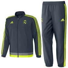*ADIDAS - REAL MADRID PRESENTATION TRACKSUIT GREY = SIZE ALL ADULTS