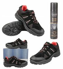Mens Trail / Trek Trainers With Waterproof Spray Size UK 6 7 8 9 10 11 12