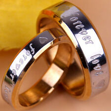 Stainless Steel Ring Love Heart Band Couple Titanium Rings Fashion Wedding Gift