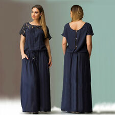 Lace Summer Casual Evening Party Beach Dress Long Maxi Dress Plus Size WB