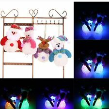 Snowman LED Light Colorful Gift Christmas Tree Hanging Ornaments Decoration