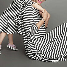 Women's Girls' Casual Striped Long Sleeve Mother Daughter Family Dress Novelty