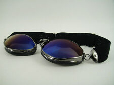 NEW AVIATOR 4400 MIRROR BLUE GOGGLES L JEANTET Motorcycle Car VTG Classic Racer