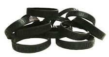 Black Awareness Bracelets Lot of 100 Silicone Wristband Cancer Cause IMPERFECT