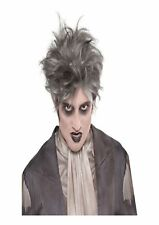 Zombie From The Crypt Grey Halloween Horror Fancy Dress Wig P9791