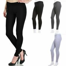 Plain Solid Cotton Leggings Skinny Stretchable Comfortable Basic Athletic S M L