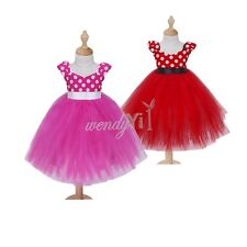 Halloween Baby Girl Cute Minnie Mouse Polka Dots Tutu Skirt Birthday Party Dress