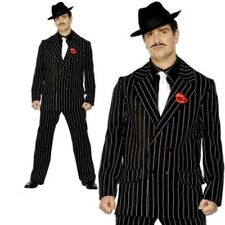 Mens Gangster Zoot Suit Black 20s Costume Mafia Adults Fancy Dress
