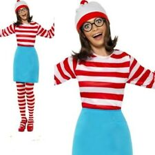 Ladies Wheres Wally Wenda Costume ladies Licensed Fancy Dress Outfit 6 to 22