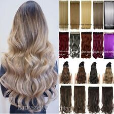 Real Thick as human hair Clip In Hair Extension 3/4 Full Head Straight Curly Tm5